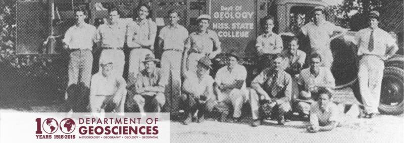 Department of Geology field trip, circa 1936. University Archives Digital Collection.